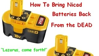 How to Bring NI-CAD Drill Batteries Back to Life & Make Them Charge Again - Ryobi