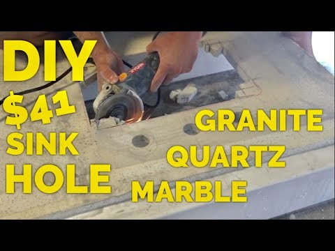 $41 DIY How to Cut a Sink Hole in Granite, Marble or Engineered Quartz