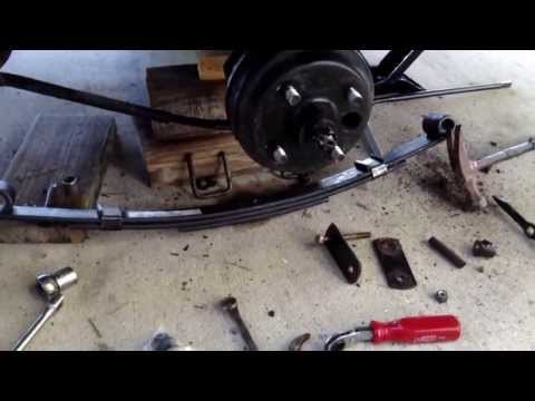 HOW TO REPLACE and UPGRADE REAR HEAVY DUTY LEAF SPRINGS on EZ GO TXT GOLF CART and rear LED lights