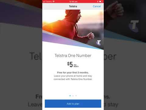 Setup screens for Apple Watch Series 3 on Telstra (One Number)