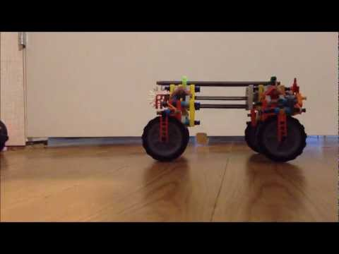 K'nex fully independent suspension truck, with many accessories