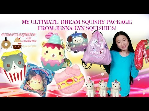 MY ULTIMATE DREAM SQUISHY PACKAGE FROM JENNA LYN PART 2! So many licensed squishies!
