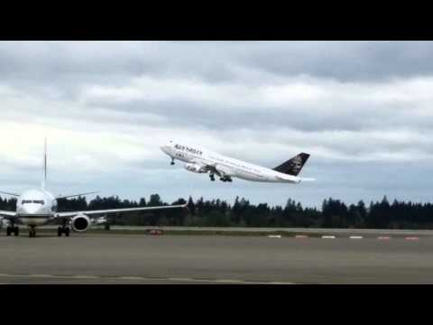 Iron Maiden 747 departs Seattle.