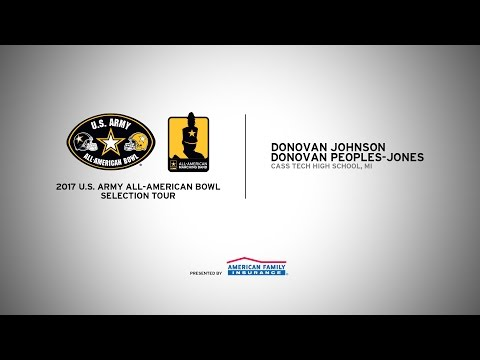 2017 All-American Selection Tour   Donovan Johnson & Donovan Peoples-Jones