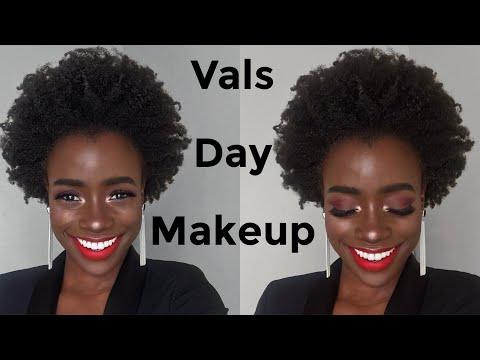 VALENTINES DAY 2018 LOOK - GET READY WITH ME NATURAL HAIR & MAKEUP