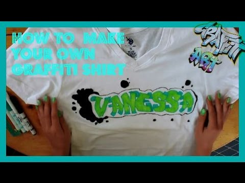 ♡How to  Make your Own Graffiti Shirt♡