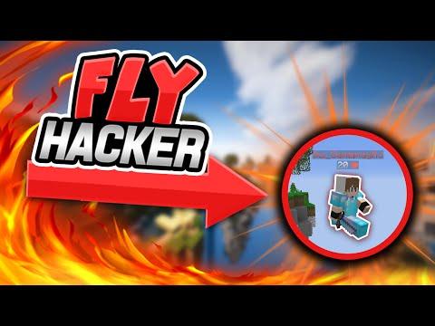 First Encounter = FLY HACKER! (Minecraft Skywars)