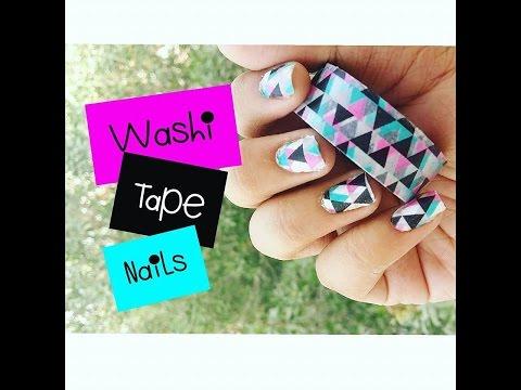DIY Washi Tape Nails 💅