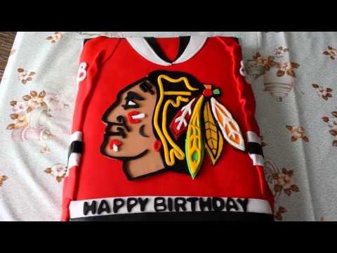 NHL Chicago BlackHawks Hockey Jersey Cake