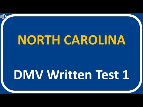 North Carolina DMV Written Test 1