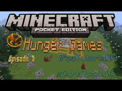 Hunger Games w/ iPodTutorial99 & xDarkAbsol - Minecraft PE