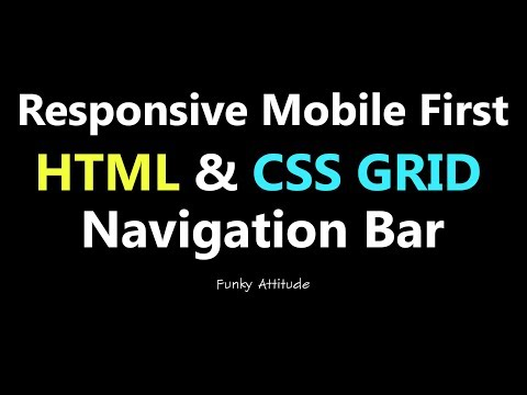 Responsive Mobile First Navigation Bar With HTML & CSS Grid From Scratch