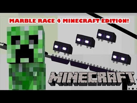 Marble Race 4 - Minecraft Edition in Algodoo - Kinder Playtime
