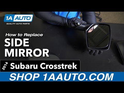 How to Replace Install Side Mirror 13-14 Subaru Crosstrek