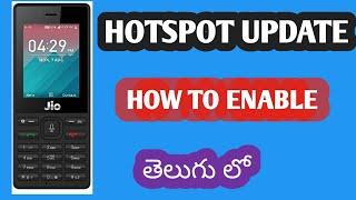 Enable jio hotspot | jio phone omnisd hotspot | jio phone jbstore