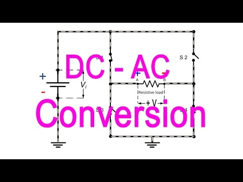DC to AC converter/inverter (animated lecture)