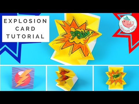 Explosion Card Tutorial - How to Make a Pop-Up Exploding Card COMIC BOOK STYLE!