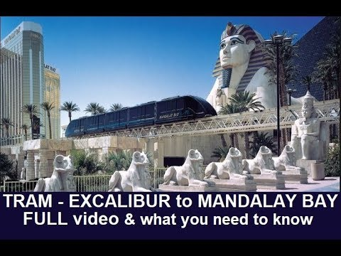 How to Move Around Vegas: Tram from Excalibur to Mandalay Bay with Tips