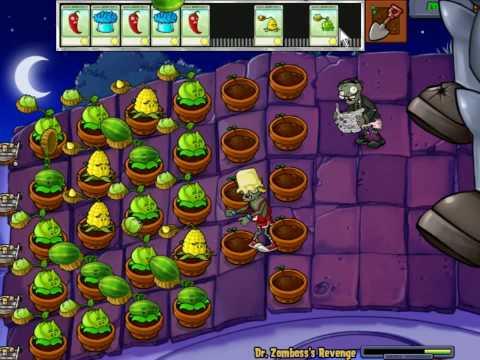 Plants Vs Zombies - Minigame Dr Zomboss Revenge