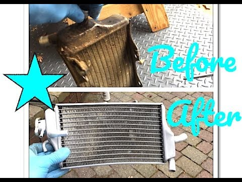 How to clean dirtbike radiators fast and easy