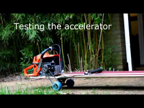 Building a chainsaw powered longboard
