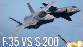 Israeli F-35A against the Syrian Air defense system S-200VE