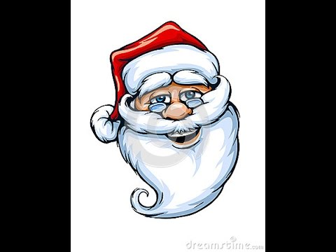 How to Draw Santa Claus -Step by Step to draw santa claus face