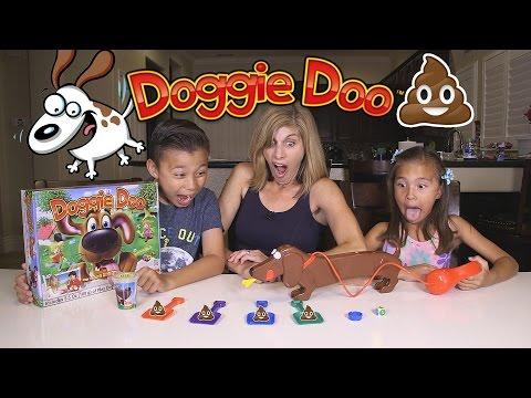 Playing with DOGGIE DOO!!! Family Game Night Fun!