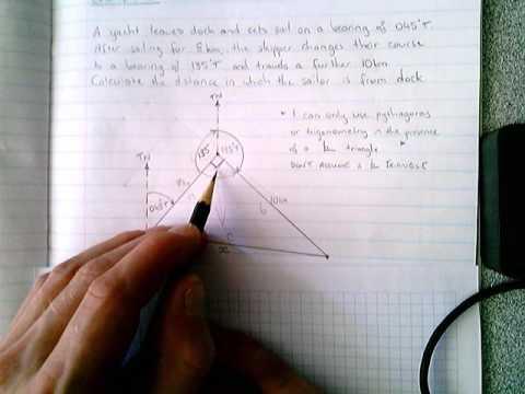 Pythagoras - Example 6 (bearings)