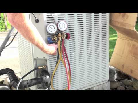 How to install and bleed the air conditioner gauge set