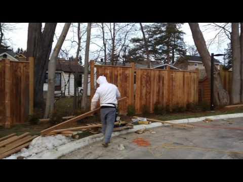 Fence job by Manos handyman Toronto 647 339 6313