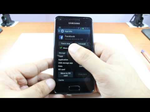 Uninstall or delete games and apps Samsung GALAXY S Advance