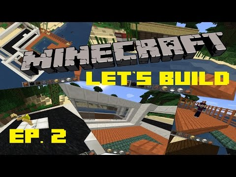 Minecraft Let's Build | Ep 2 | Beach House Frame, Tiki Bar, and Water House