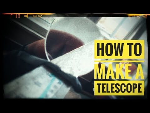 How to make a Telescope | With Lenses | All TUBE