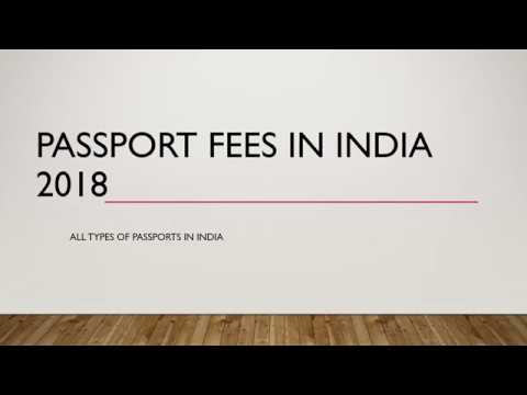 PASSPORT FEES IN INDIA 2018 latest