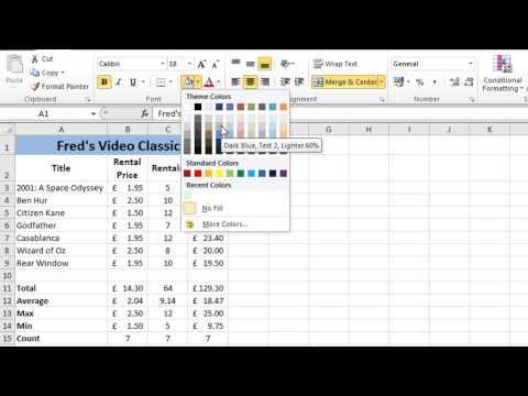 Excel 2010 Tutorial For Beginners #7 - Formatting Worksheets (Microsoft Excel)