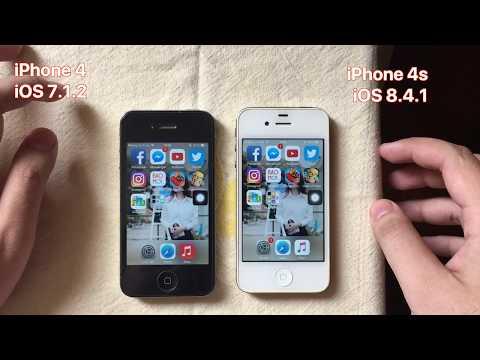 iPhone 4 iOS 7.1.2 vs iPhone 4s iOS 8.4.1 - Full Speedtest 2018