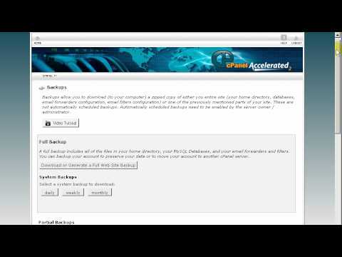 Backing Up your Files in cPanel