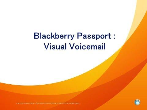 Blackberry Passport : Visual Voicemail