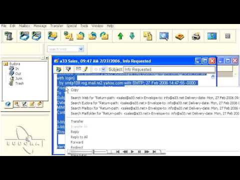 How to view email headers in Outlook Express 2003