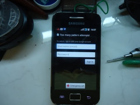 Samsung Galaxy Ace S5830i hard reset