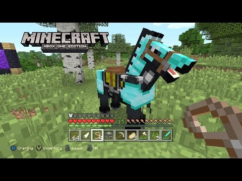 Diamond Armor Horse!!! - Minecraft: Xbox One Edition