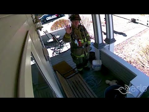 Caught on Arlo: 2-Way Talk for a Gas Leak