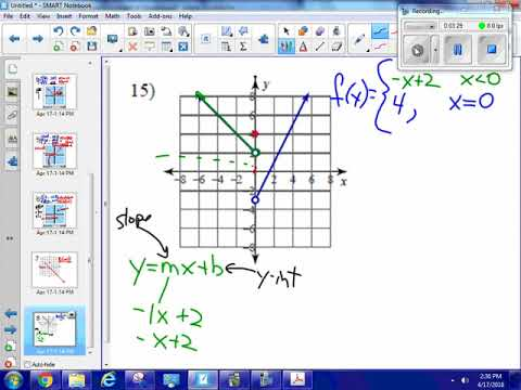 Piecewise function from graph to equation #15