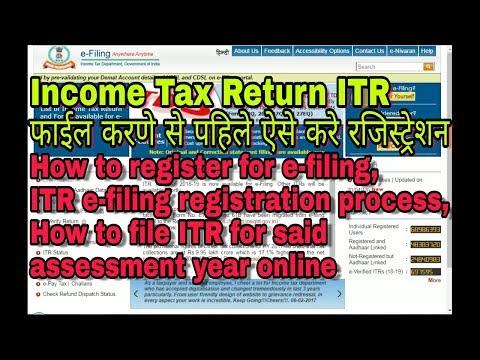 How to register fo e-filing, ITR e-filing registration process, How to file ITR online