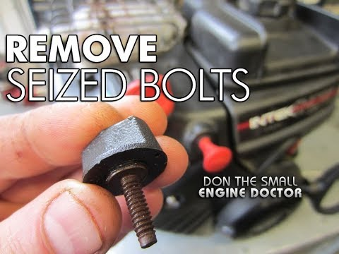 HOW-TO Remove Seized Bolts - Briggs & Stratton Carburetor Cover Bolts