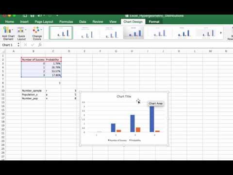Hypergeometric Distributions Using Excel 2
