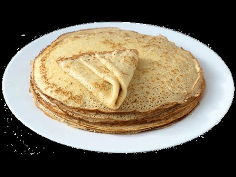 How to bake Russian Blini Блины Pancakes Crepes Recipe Tutorial