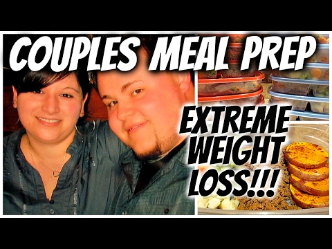 COUPLES WEEKLY MEAL PREP for EXTREME WEIGHT LOSS!!! 130 LBS DOWN