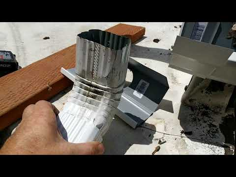 How to install aluminum GUTTERS.